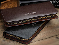 Кожаный мужской клатч портмоне черный