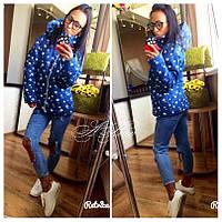 Демисезонная женская джинсовая курточка на синтепоне