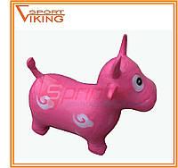 Надувная игрушка-попрыгунчик  корова (розовый)