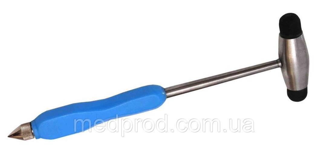 Молоток неврологический с иглой и кисточкой. Ручка пластмассовая.