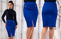 Однотонная юбка в деловом стиле S M L XL