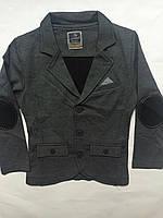 Пиджак трикотажный, одежда для мальчиков 122-164