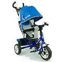 Велосипед Best Trike 6588 синий, 3-х колесный, козырёк со смотровым окошком