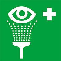 Наклейка: Пункт обработки глаз 150х150