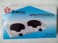 Электроплита domotec hp-200a 2-х конфорочная
