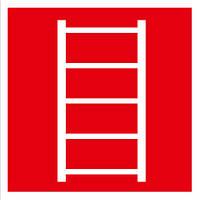 Наклейка: Знак пожарной лестницы 150х150