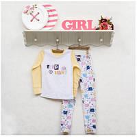Пижама детская для девочек ТМ Фламинго, интерлок (артикул 247-212)