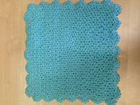 Мочалка вязанная ручной работы (Турция) бирюзовая