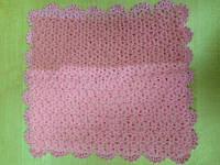 Мочалка вязанная ручной работы (Турция) розовая двухцветная