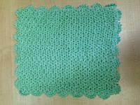 Мочалка вязанная ручной работы (Турция) зеленая