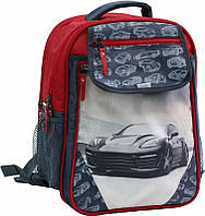 Детский рюкзак Bagland для мальчиков серый с красным