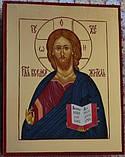 Икона писаная Господь Вседержитель в деревянном киоте., фото 6