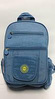 Молодежный однотонный рюкзак ORMI голубой
