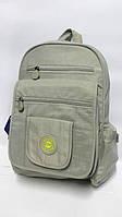 Молодежный однотонный рюкзак ORMI - серый