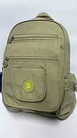 Молодежный однотонный рюкзак ORMI - оливковый