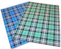 """Блокнот А4 на спирали 48 листов, """"шотландка"""", клетка. Реверс"""