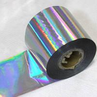 Фольга для литья, серебро голографик, фото 1