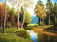 Алмазная вышивка Река возле дома KLN 40 х 30 см (арт. FS237)