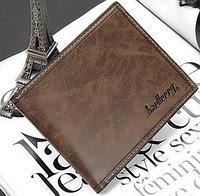 Стильный кожаный мужской кошелек портмоне Baellerry коричневый