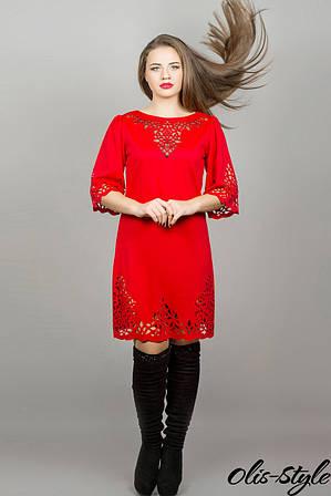 Платье Валенсия ( красный)