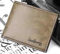 Стильный кожаный мужской кошелек портмоне Baellerry кофейный