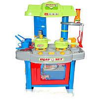 Игровой набор 008-26 А Кухня с плитой, посудкой и аксессуарами, свет, звук