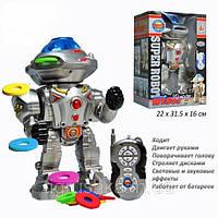 """Робот """"Super Robot"""" на радиоуправлении 28085. Говорит, ходит, вращает головой на 180 градусов, танцует и поёт."""