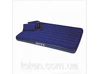 Двуспальный надувной матрас Intex 68765 с насосом и двумя подушками