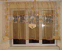 Комплект шторок и тюль золото до  подоконника, фото 1
