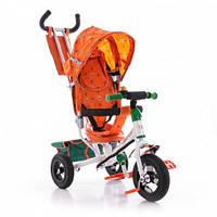 Трёхколёсный детский велосипед Azimut Trike BC-17B AIR цвет оранжевый на надувных колёсах