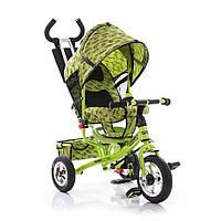 Велосипед трехколесный детский M 5363-2-3 усиленная двойная ручка зеленый EVA Foam