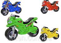 Мотоцикл толокар Орион 501. В 4-х цветовых решениях: синий, зеленый, красный, желтый.