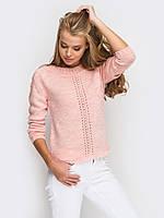 Модный женский вязаный свитер р.42-44