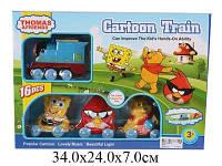 Детская железная дорога с героями мультфильмов: Спанч Боб, Винни Пух, Angry Birds 8835