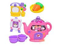 """Детский игровой набор посуды """"Чайник-домик"""" 25598"""
