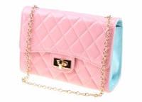 Сумка - чемоданчик нежно розового цвета 19.5*13.5*7см