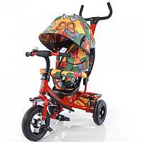 Детский трехколесный НАДУВНЫЕ КОЛЕСА велосипед TILLY Trike Бабочка T-351-7 Air Красный