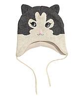 Детская шапочка для девочки 1-2 года