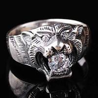 Женское серебряное кольцо (фианит)