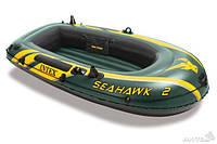 Надувная лодка Intex 68346 Seahawk 2 Set (2-х местная)