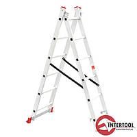 Лестница алюминиевая 2-х секционная универсальная раскладная 2*6ступ. 2.57м