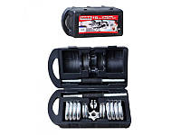 Гантель MS 0228  2 шт, 15 кг, хром, наборная, в чемодане