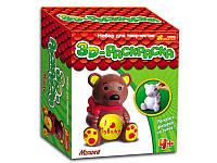 Набор для творчества 3D Раскраска - фигурки Медведь 3044-8