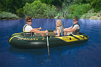 Надувная лодка Intex 68349 Seahawk 295*137*43 см на 3 человек