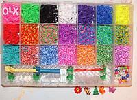 LOOM BANDS набор для плетения браслетов из разноцветных гелиевых резинок 6200 шт в коробке