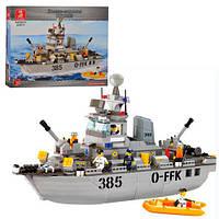 Конструктор Военный корабль Sluban 619930/M 38 B 0125, 461 деталей
