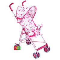 Коляска детская M 1702 прогулочная Розовая