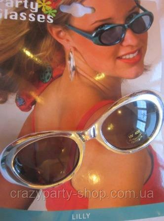 Очки для вечеринки женские металлизированная оправа