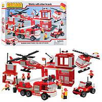 Детский конструктор Пожарная станция Best-Lock 75052, 750 деталей