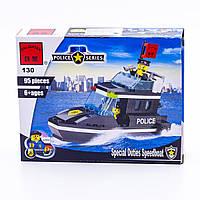 """Конструктор """"Полицейский катер"""" 95 деталей Brick-130"""